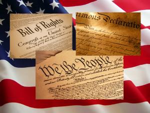 3 Documents & Flag