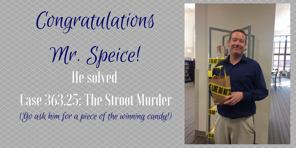 Congratulations Mr. Speice Blog Post Image